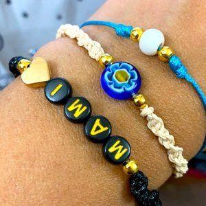 MAMI Mother's Day braided macrame bracelet set
